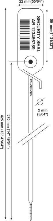 juppiter Adjustable security seal 2x425 mm e pollici